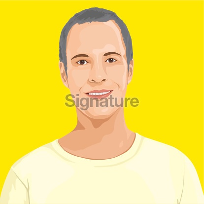 Vector of Smart Man