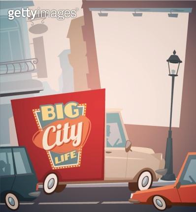Urban scene banner
