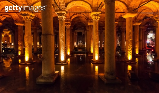 The Basilica Cistern in Istanbul, Turkey
