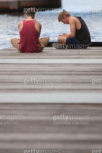 Two Men on a Jetty