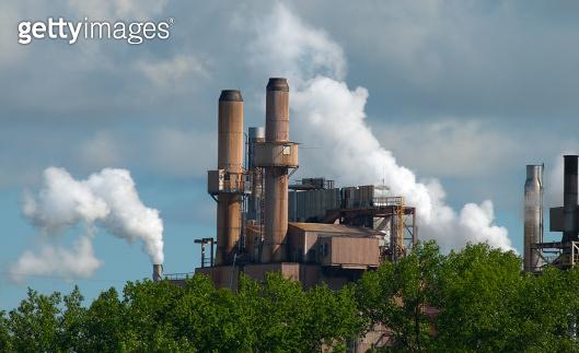 Paper Mill Smoke Stacks