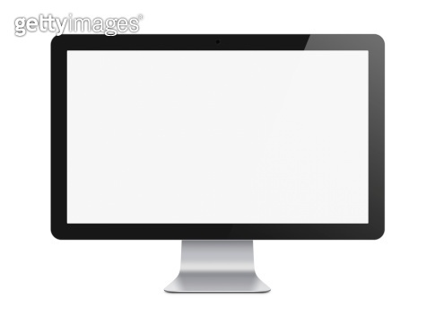 Modern Computer Monitor Isolated