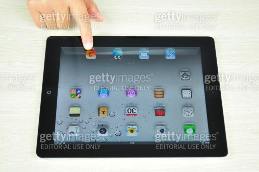 black iPad 4