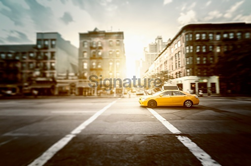 Taxi running on nyc