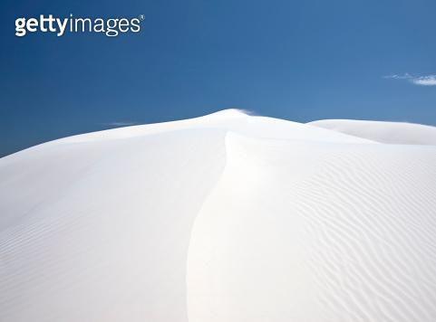 White sand dunes.