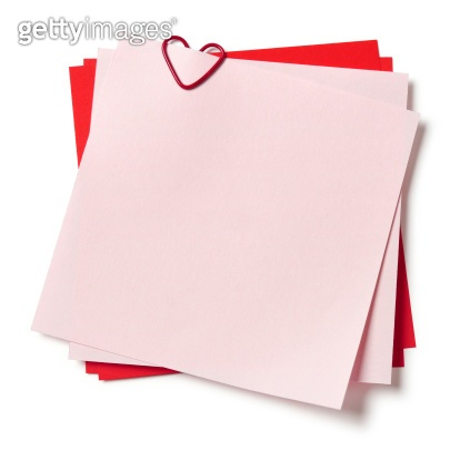 pink and red sticky notes
