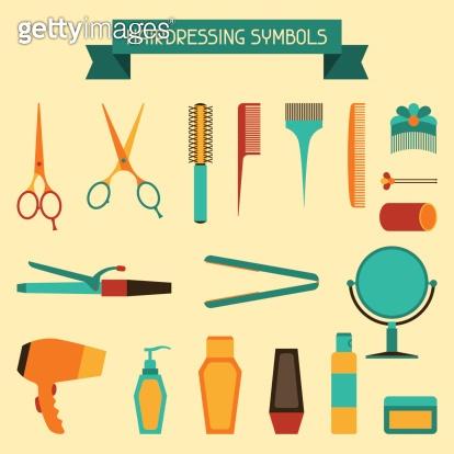 Hairdressing symbols.