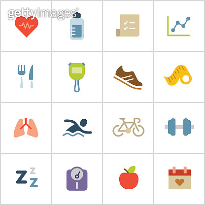 Health & Fitness Icons — Poly Series