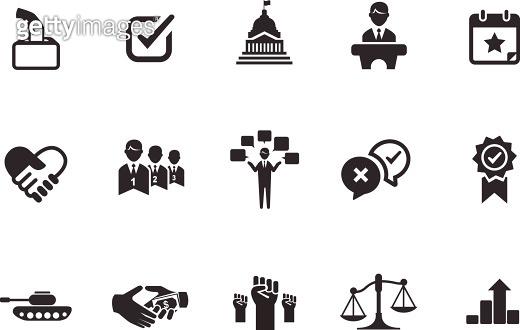Political icons illustration