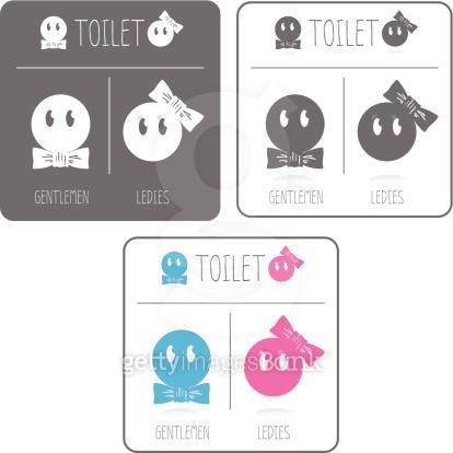 Cute restroom signs