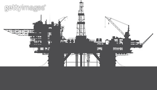 Sea oil rig. Oil platform in the sea.