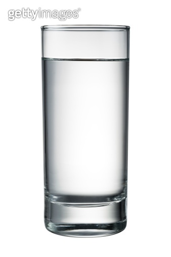 Water glass isolated on white. With clipping path
