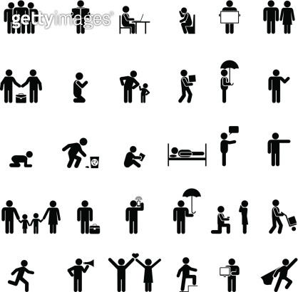 people in various poses