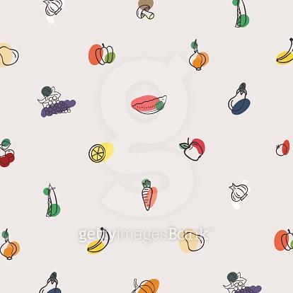 Vector pattern of vegetables