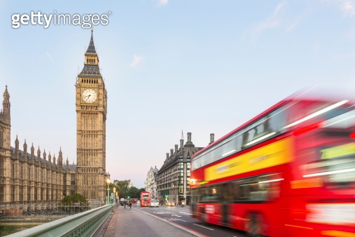 Big Ben and Red Double-Decker Bus
