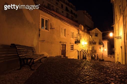 Night bench Lisbon