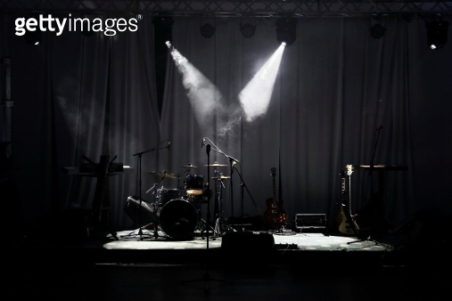 Stage in Lights before concert