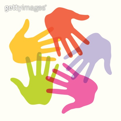 Colorful Hand Print icon