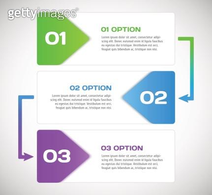 One two three - vector progress steps.