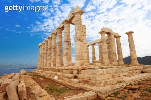 Temple of Poseidon on Mediterranean sea, Athens