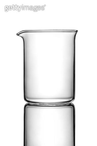 Empty chemistry flask
