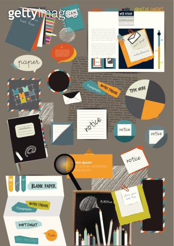 Web design portfolio elements.
