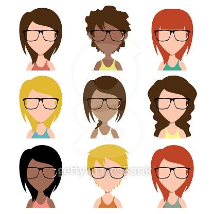 Women hipster avatar