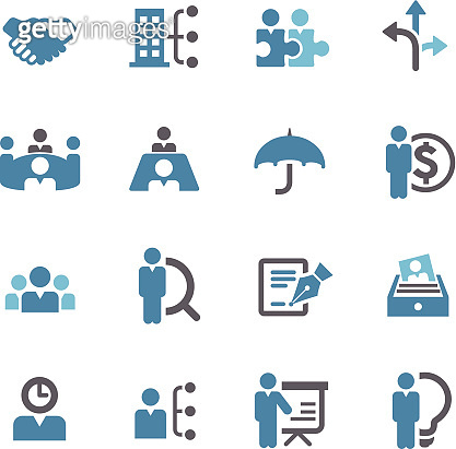 human resource, Business and Management Icons - Conc Series