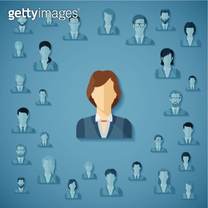 Vector concept of human resources management.