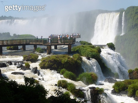 Viewpoint of Iguazu falls