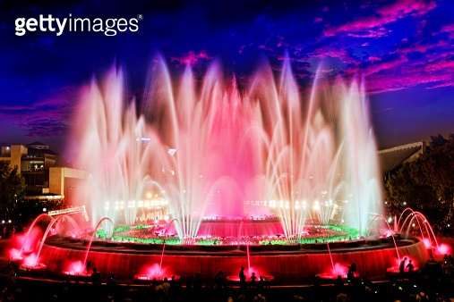 The famous Montjuic Fountain