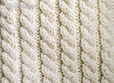 Creamy off-white wool knitwork
