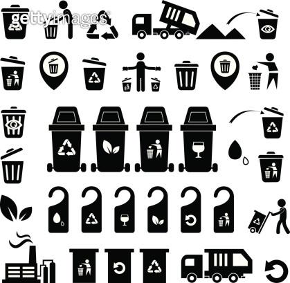 Garbage icons set