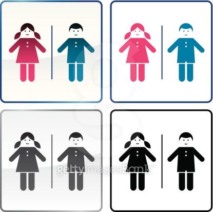 Kids restroom sign