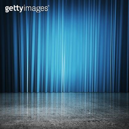 blue curtains