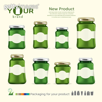 Jam bottle design for your product.vector