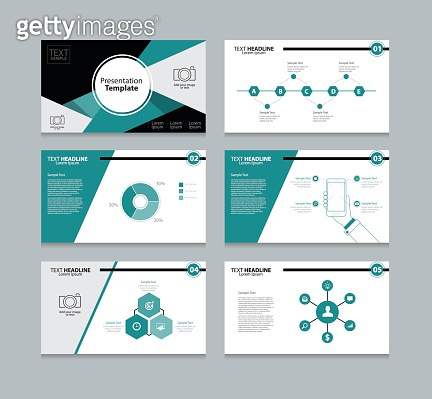 abstract vector template presentation slides background design