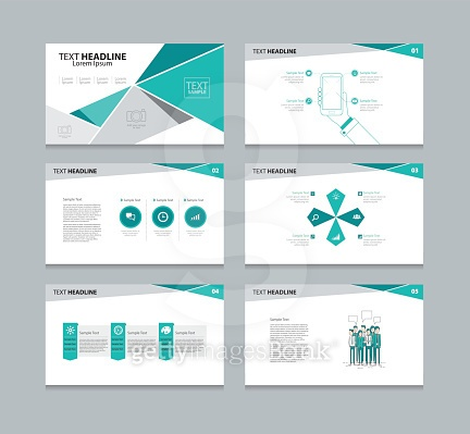 abstract polygon vector template presentation slides background design