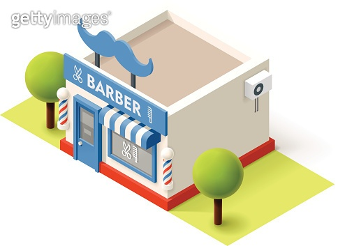 Vector isometric barbershop