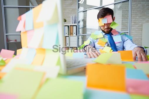 Sticky note prank