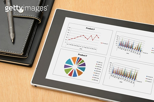 Business concept, digital tablet and personal organizer