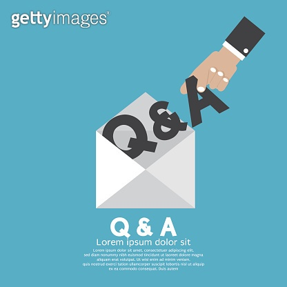 Q&A Letter In Hand Vector Illustration