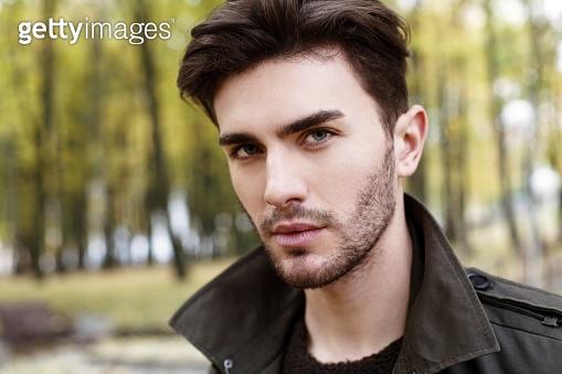 close-up handsome man portrait