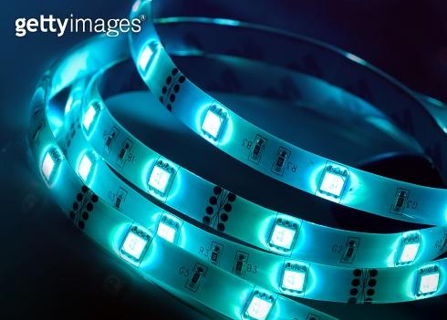 Led shining diode lights. Strip.