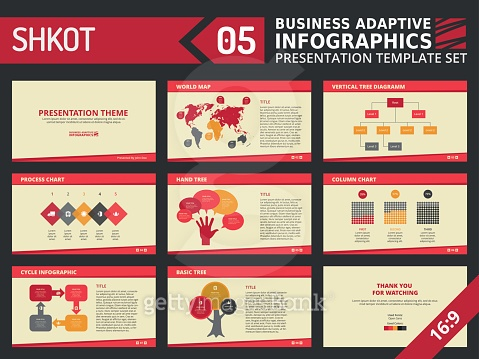 Presentation template set 5