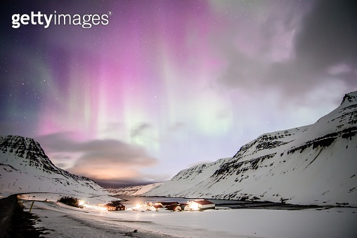 Aurora display in iceland