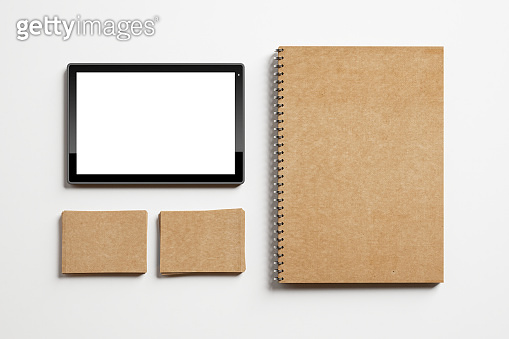 Set of identity elements and tablet