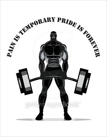 Body builder. Full body Silhouette