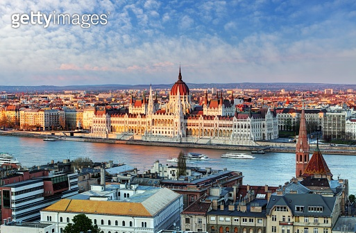 Budapest cityscape with parliament, Hungary