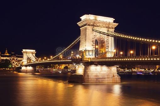 The Chain Bridge in Budapest